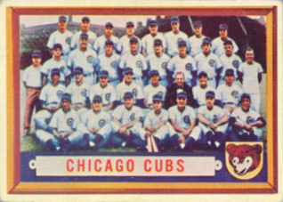 Chicago Cubs baseball card