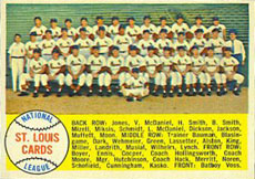 St. Louis Cardinals baseball card