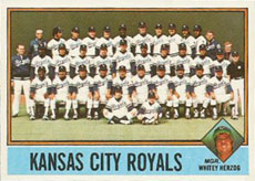 Kansas City Royals baseball card