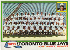 Toronto Blue Jays baseball card